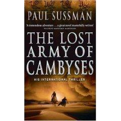 جيش قمبيز المفقود، الغلاف الأجنبي للرواية